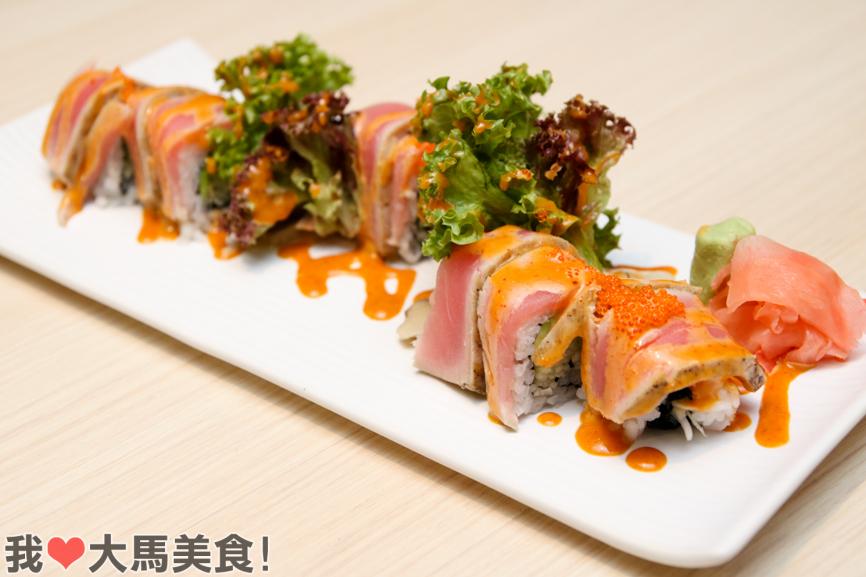 tuna, sushi, sanoook, sunway pyramid, japanese thai fusion